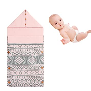 Amazon Com Knit Newborn Baby Wrap Swaddle Blanket Kids Toddler