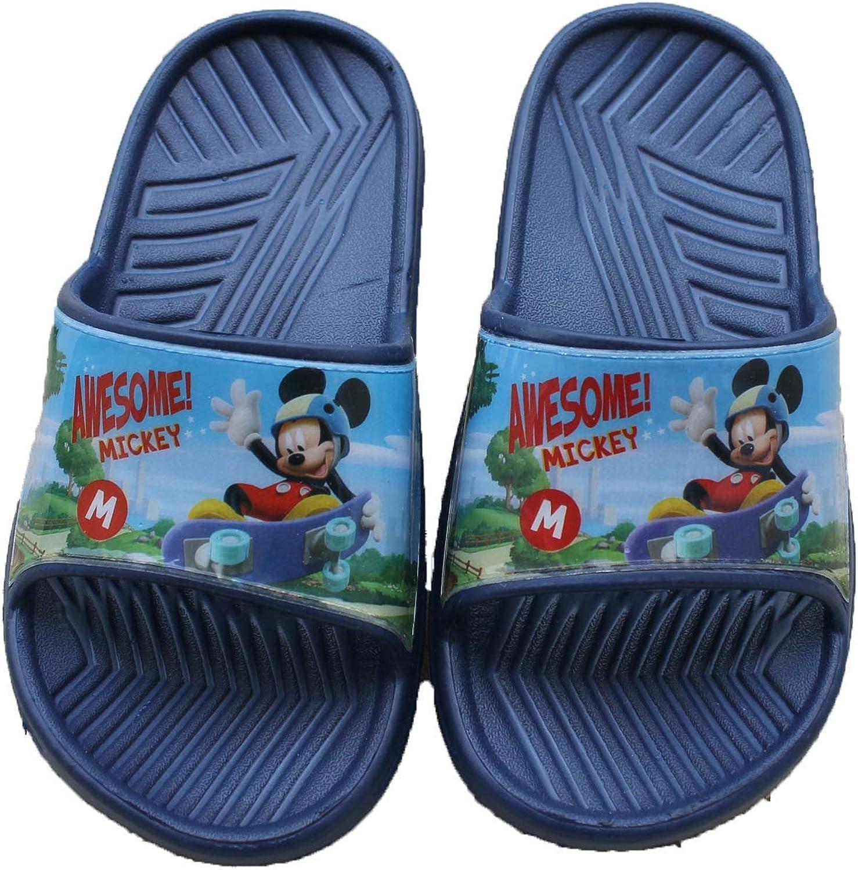Disney-Belle Claquettes Mules Mickey-Bleu-gar/çon