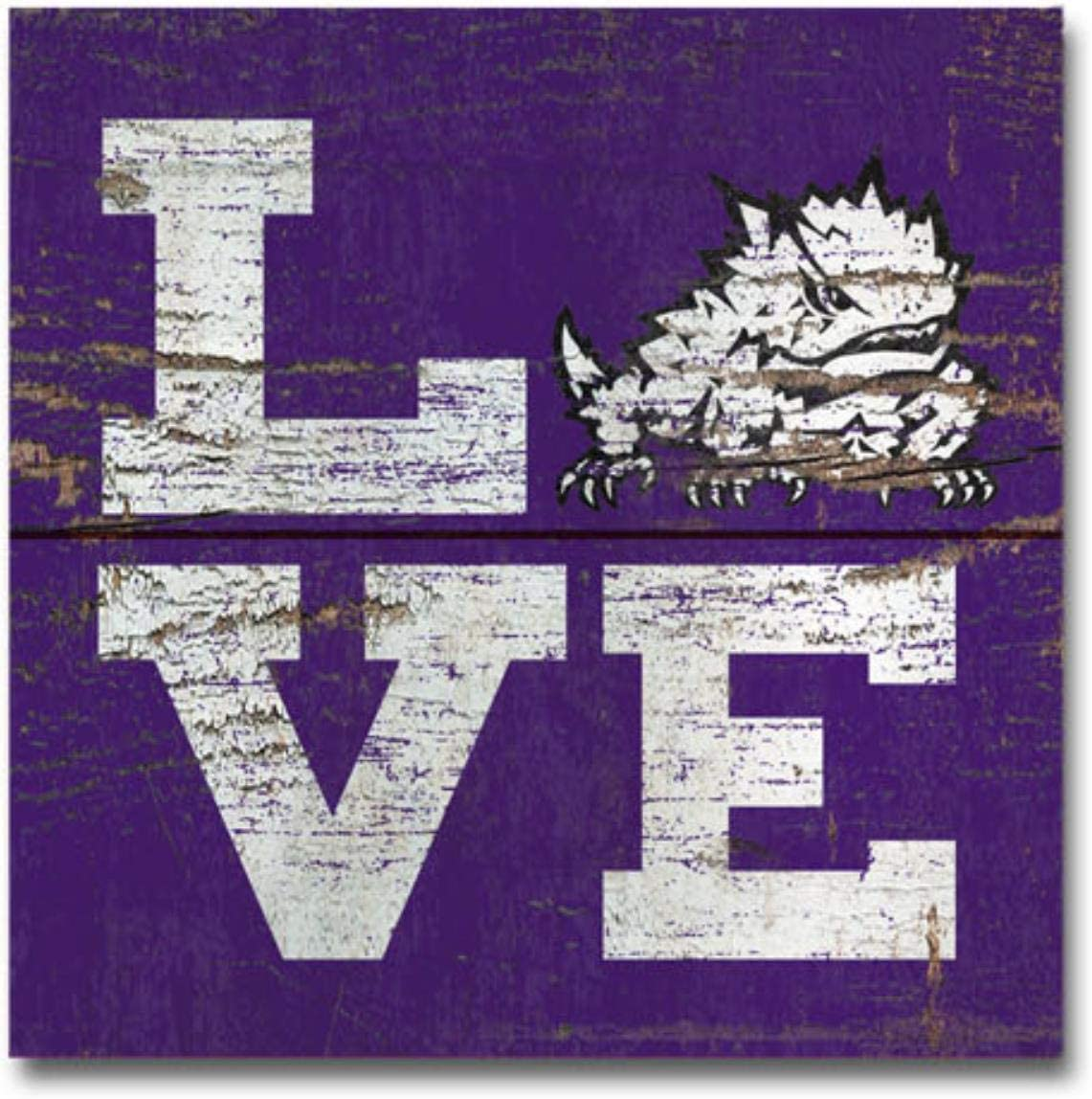 One Size NCAA Legacy Tcu Horned Frogs Wood Plank Magnet 3x3 Wood