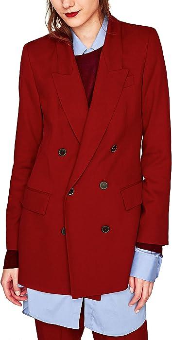 Zara - Abrigo - para mujer rojo rosso Medium