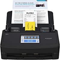 ScanSnap iX1600 Negra - Escáner de Documentos de Oficina - ADF Scanner, Doble Cara, WiFi, Pantalla táctil ADF, USB 3.2