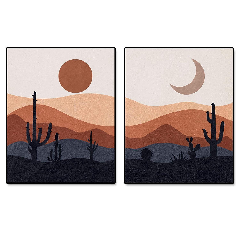 Mountain Decor Desert Art No Frame Abstract Landscape Wall Art Mid ...