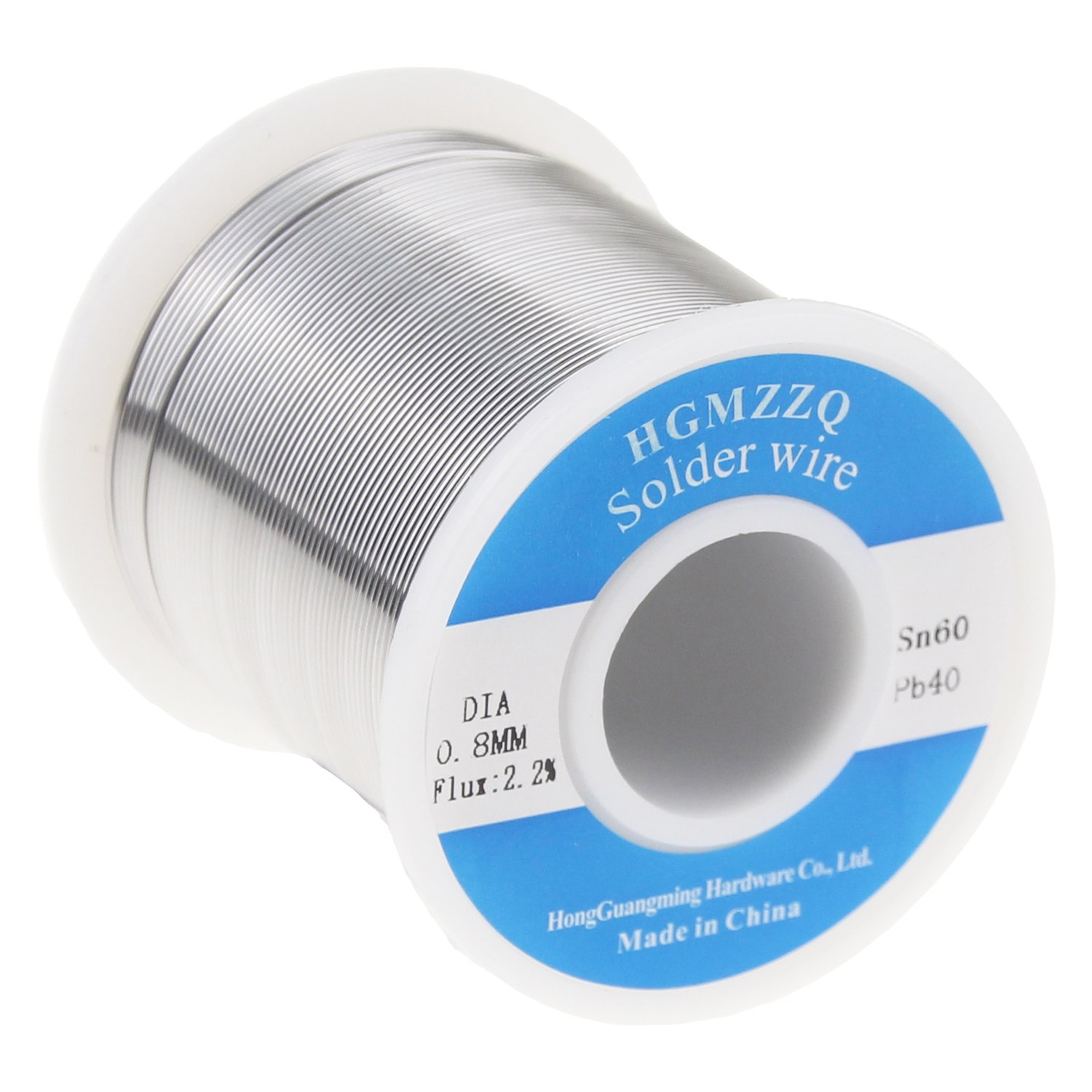 HGMZZQ 60/40 Tin Lead Solder Wire with Rosin for Electrical Soldering 0.031inch (0.8mm-1lb)