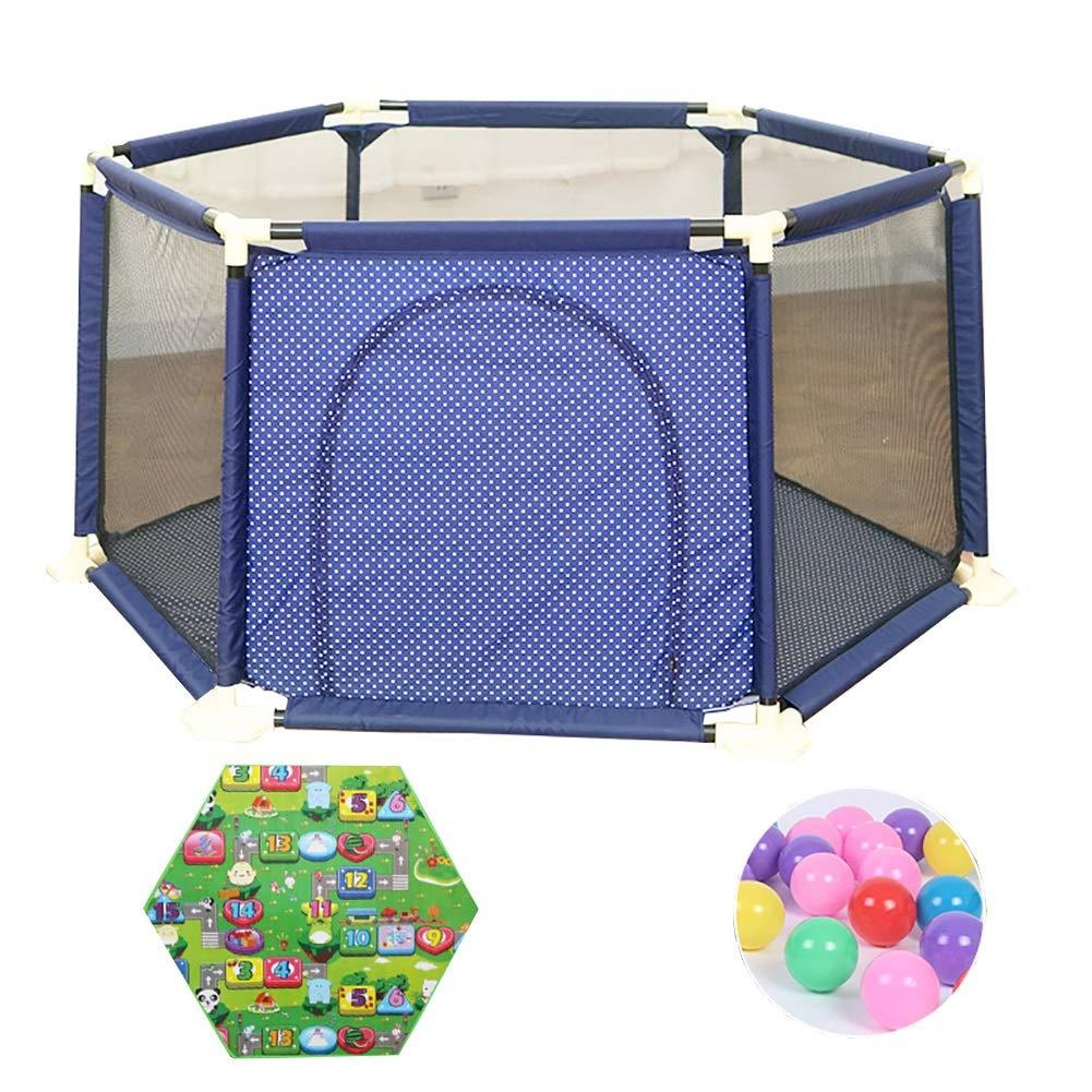 ベビーサークル 赤ちゃんの遊び場屋内の子供の遊び場遊び場の遊び場の子供の安全のフェンスの遊び場 (色 : Style-4, サイズ さいず : 180x65.5cm) 180x65.5cm Style-4 B07HCJ16C1