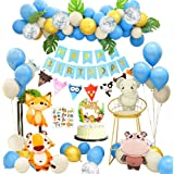 APERIL Feliz Decoracion Cumpleaños 1 Año Fiesta Cumpleaños Infantil Globos Cumpleaños Niño Happy Birthday Decoracion con…