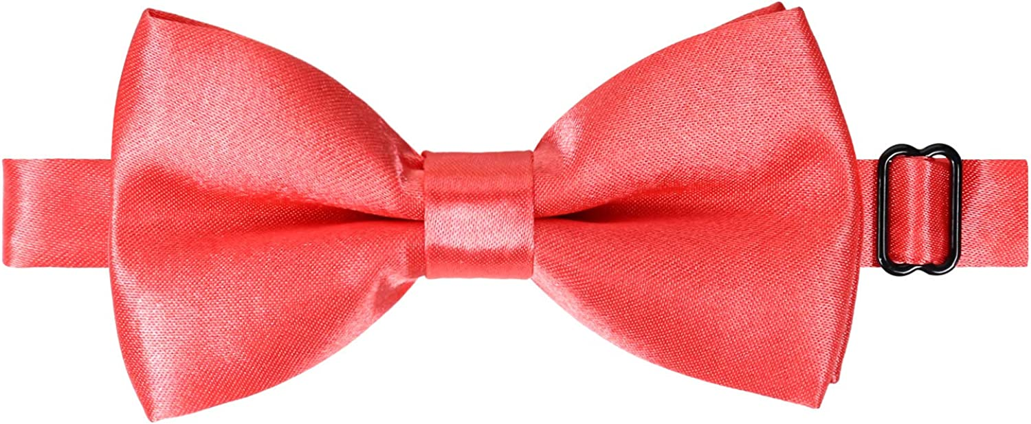 Alizeal Kids Solid Color Pre-tied Adjustable Bow ties