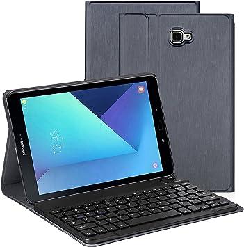 Funda Teclado para Samsung Tab A 10.1, Funda Protectora con Teclado Inalambrico QWERTY para Samsung GalaxyTab A 10.1(T580/T585), Plata