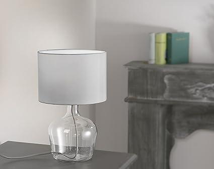 Tischleuchte mit textilschirm inkl. 4watt led leuchtmittel