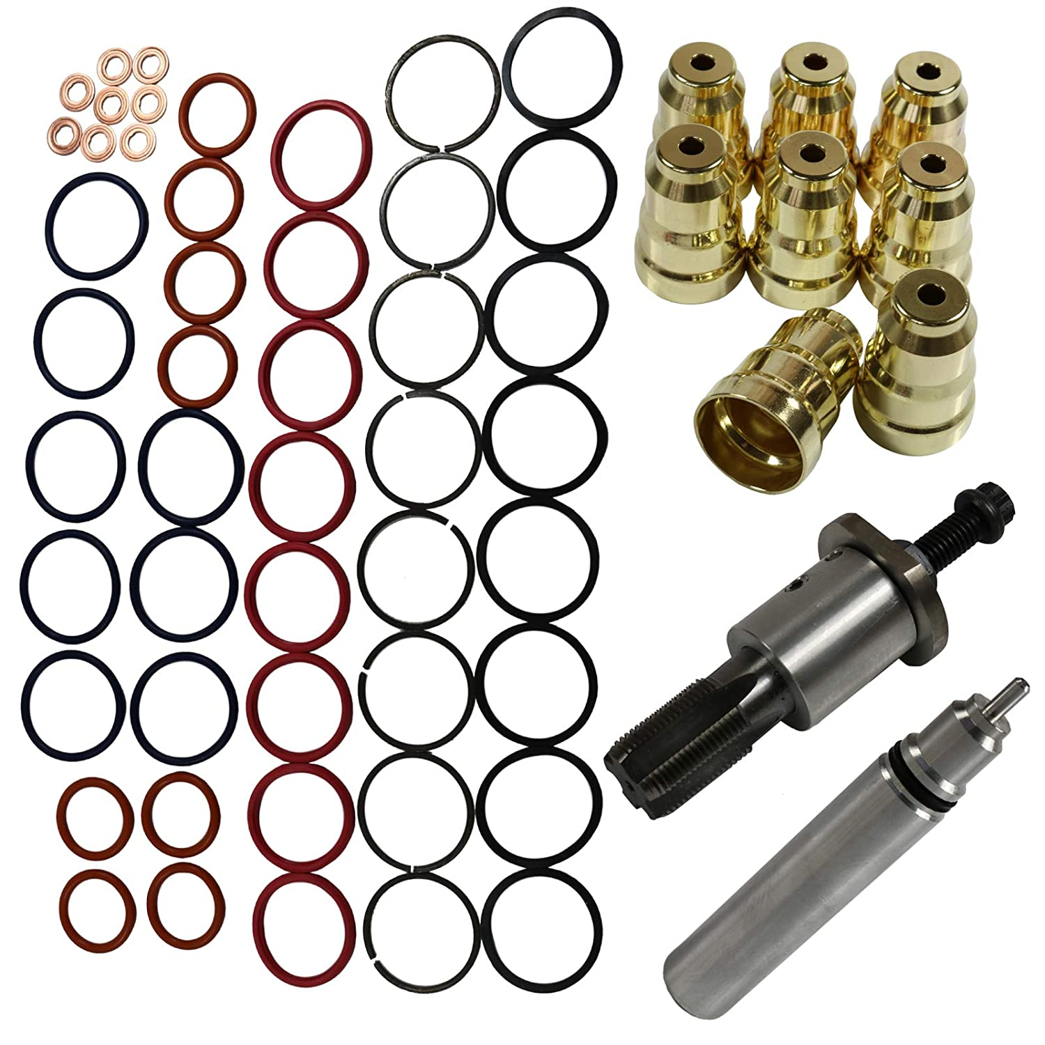 BUSIDN F4TZ9F538A Injector Sleeve Cup Removal Installation Tool Kit Fit For 94-03 Ford 7.3L