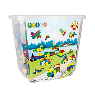 Clics CB852 850 Piece Bucket Educational Construction Set: Toys & Games