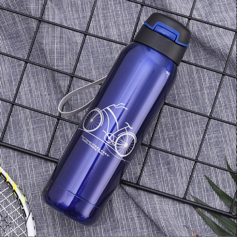 ZSL8 Radfahren Sportflasche m/ännliche und weibliche Studenten Stroh Vakuum Edelstahl ohne BPA-Wasserflasche Laufen Reiseleuchte auslaufsichere Isolierflasche