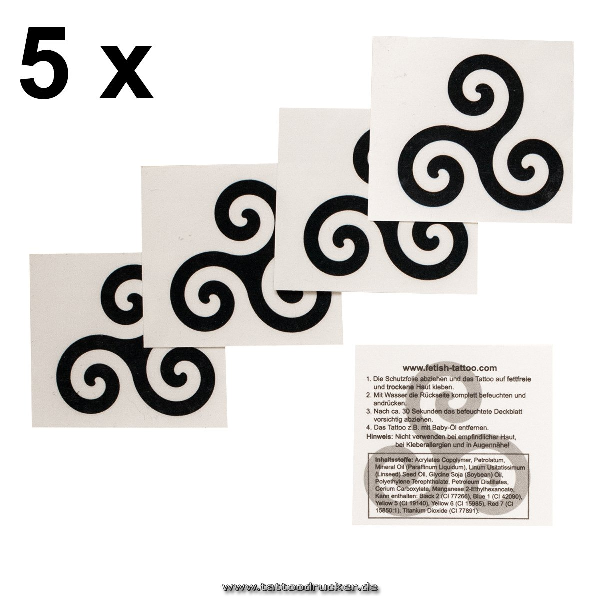 Bondage Logo Tatuajes - trieksel Símbolo - trieske Bondage Tattoo, negro, 5: Amazon.es: Hogar