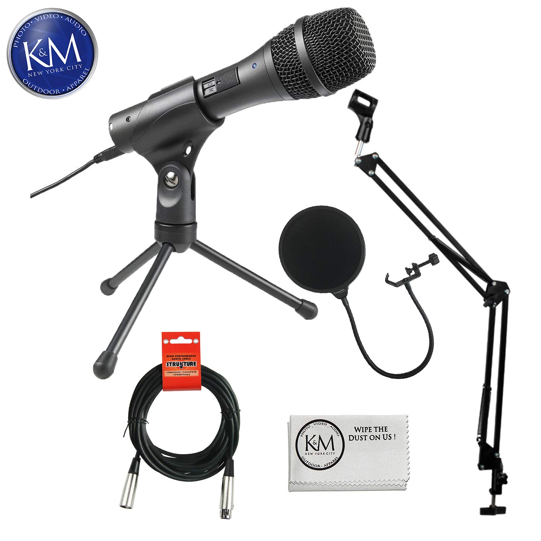Audio-Technica AT2005USB Cardioid Dynamic USB / XLR Microphone Deluxe Bundle