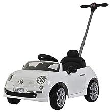 Best Ride On Cars Fiat 500 Push Car White
