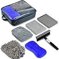 PACETAP Car Wash Kit 6 PCS, Car Cleaning Tools with Soft Microfiber Cloth Towels, Wash Mitt Sponge, Window Water Blade…