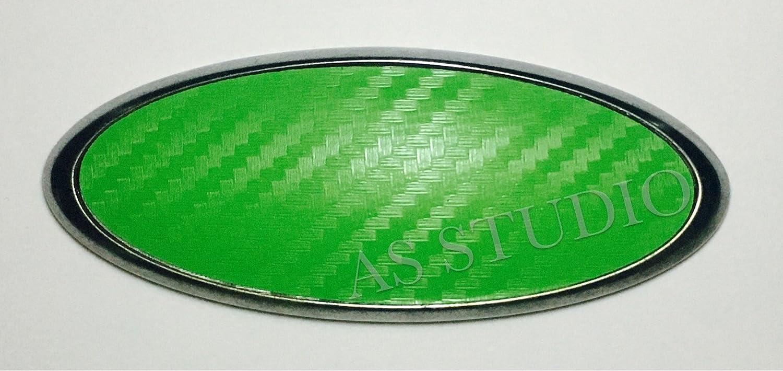 Carbon gr/ün 2x 115x45mm Emblem Pflaume Folie 100x38mm