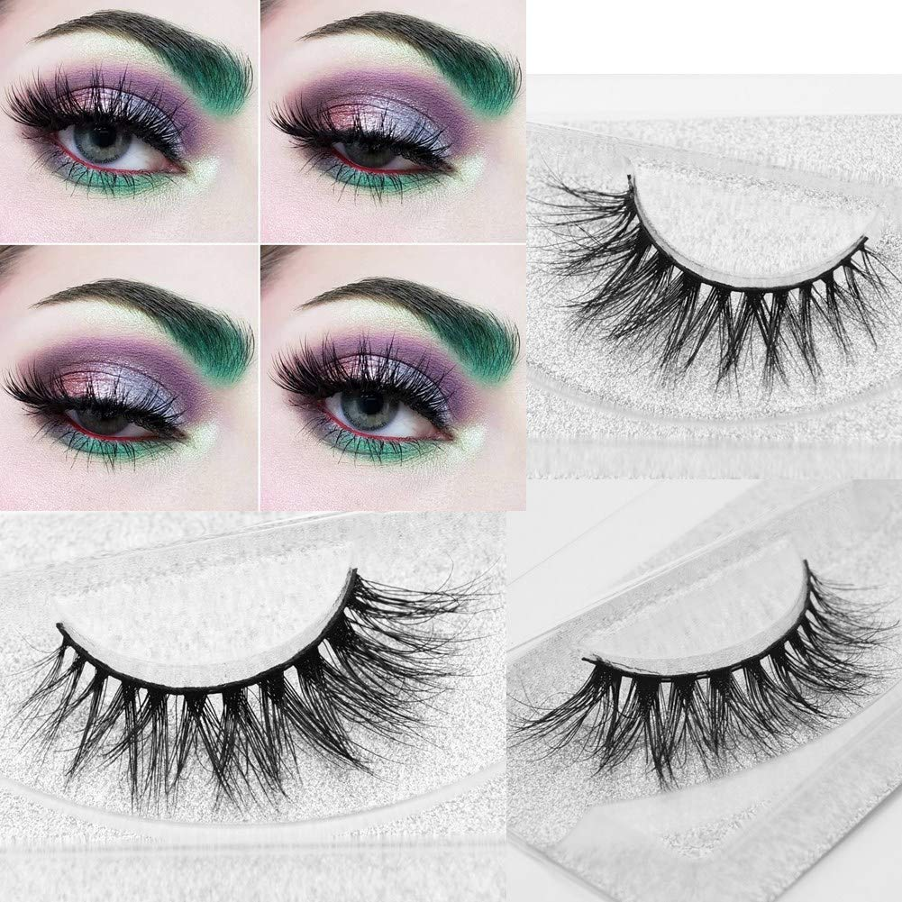 fe477a25194 Amazon.com : Miss Kiss 3D Mink Lashes Reusable Strip, 100% Siberian Mink Fur  False Eyelashes Hand-made Natural Style Cruelty Free 1 Pair Eye Lash  Package ...