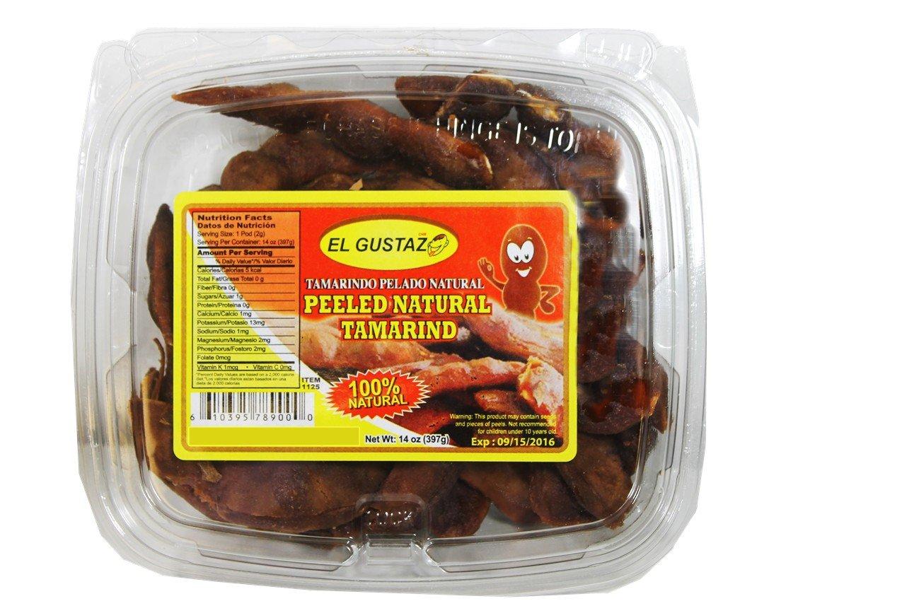 Peeled natural Tamarind. 14 oz pack