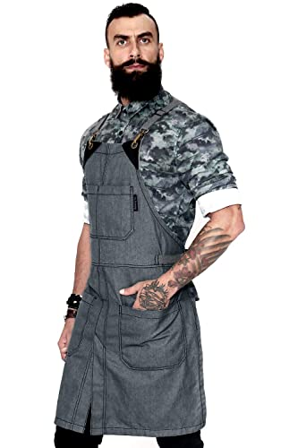 Cross-Back Slate Apron With Slit Leg For Men and Women review