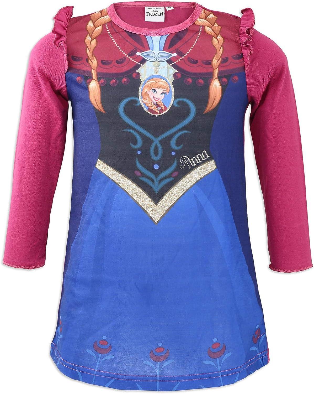 Camicia da Notte con Volant Bambina 4//8 Anni Full Print Disney Frozen 2 Elsa e Anna