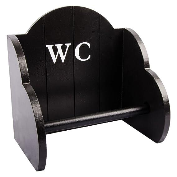 Toilettenpapierhalter WC-Papierhalter Rollenhalter Shabby Chic Schwarz Bad WC