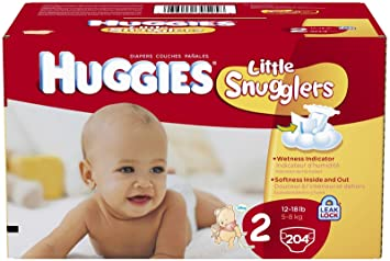 Huggies Little Snugglers Diapers Size 2 - 204 CT