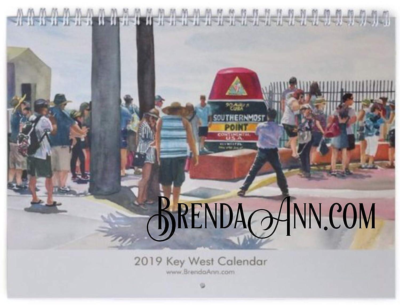 Key West Christmas Parade 2019.Amazon Com 2020 Key West Wall Calendar Southernmost Point