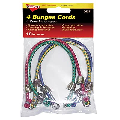"Keeper 06051 10"" Mini Bungee Cord, 4 Pack - Short Bungee Cord - .com"