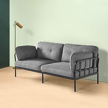 Amazon.com: Zinus – Courtney – Sofá tapizado con marco de ...