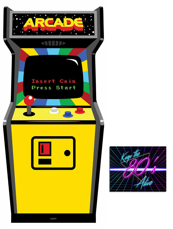 Fan Pack - 1980s Colour Video Arcade Game Cardboard Cutout / Standee / Standup - Includes 8x10 Star Photo by BundleZ-4-FanZ Fan Packs