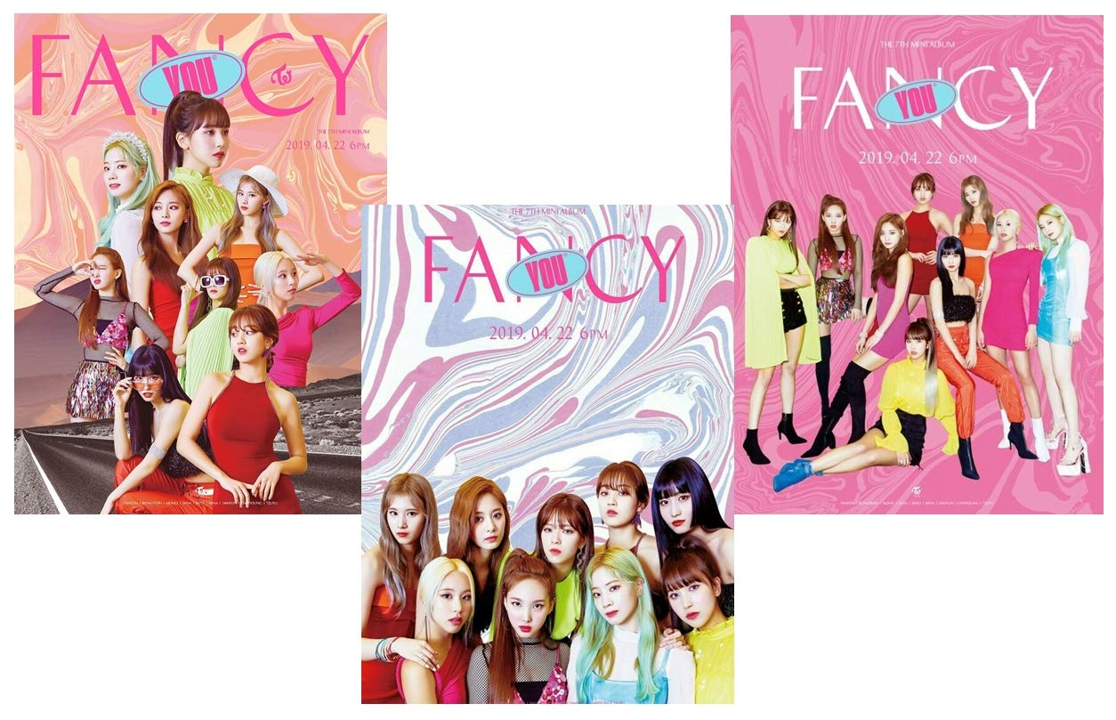 K-POP Twice - 7th Mini Album [Fancy You] (A + B + C, all versions Set) CD + Sticker + Photocards + Photobook + Pre-Order Benefit + Folded Poster + Extra Photocards Set + Tracking Number KPOP Sealed by JYP Ent