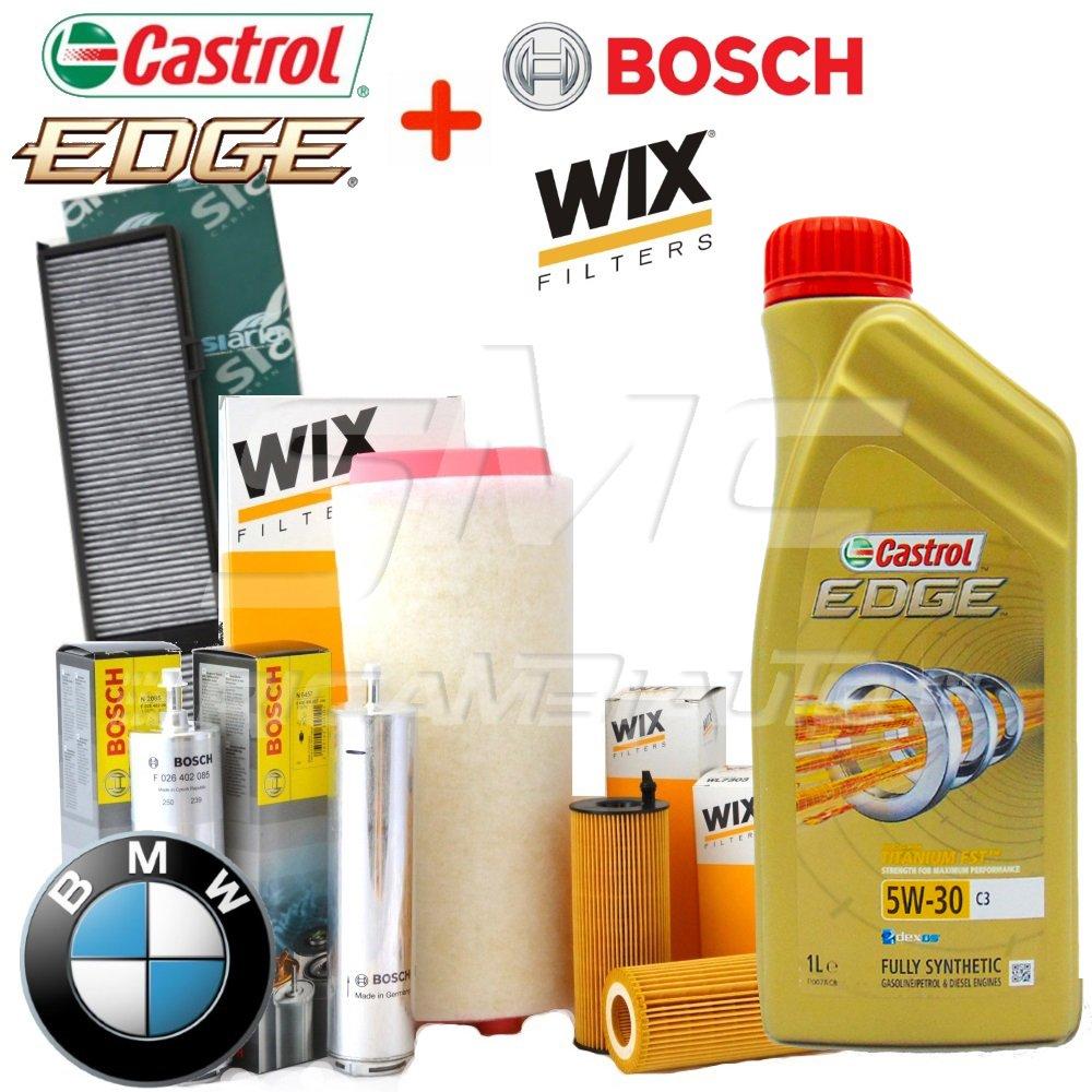 Tecneco Kit Huile Castrol Edge 5 W30 5 l + 4 filtres wix et Bosch (WL7236, 1457431708, WA6573, V3229)