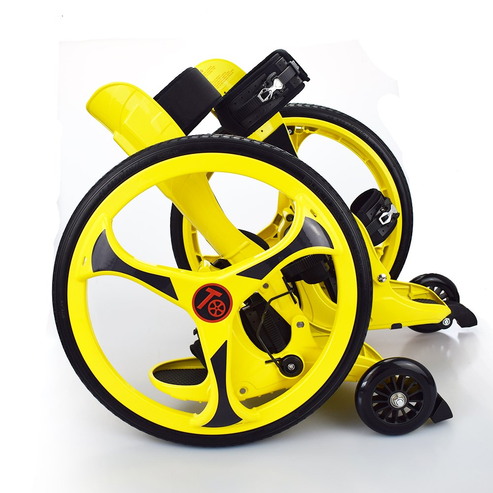 Tafeng Off-Road Roller Skate for Adult and Teenage Colour Yellow Wheel Diameter 19.3 inch//49CM Suzhou Tafeng Sports Science /& Technology Co with Big Wheel Adapt Lawn Gravel Road Rugged Land Ltd