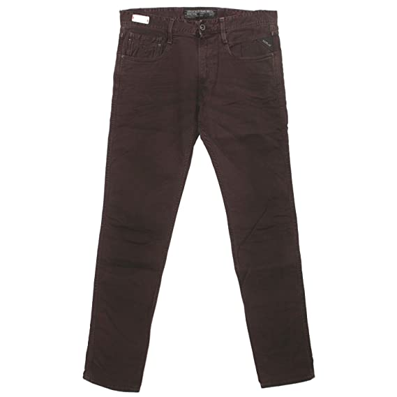 d60d6c3b Replay Men's Slim Jeans - Red - W34: Amazon.co.uk: Clothing