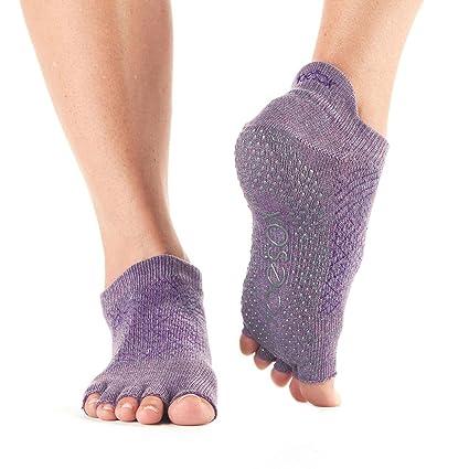 Calcetines antideslizantes ToeSox de media altura para yoga, pilates, calcetines antideslizantes de fitness -