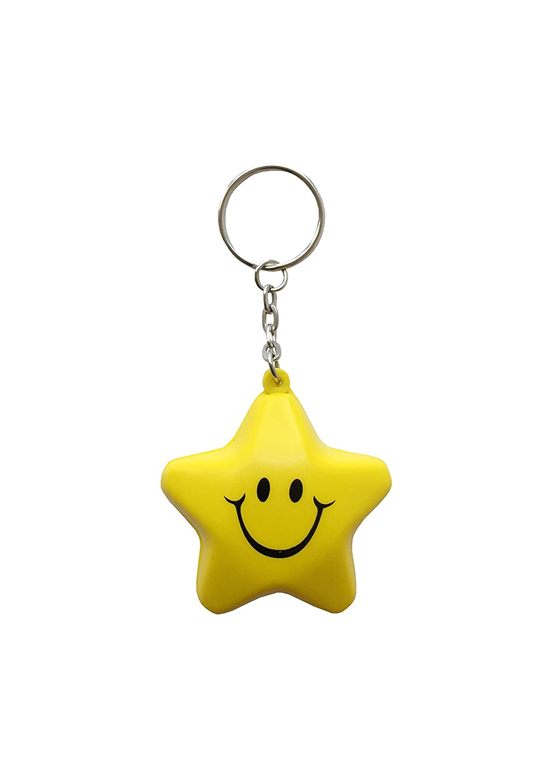 MIni Emoji Smiley Star Squishy - Llavero: Amazon.es: Coche y ...