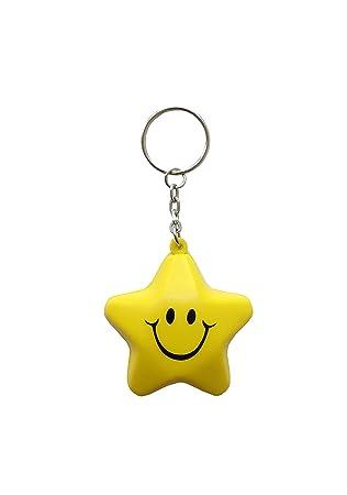 MIni Emoji Smiley Star Squishy - Llavero: Amazon.es: Coche y ...