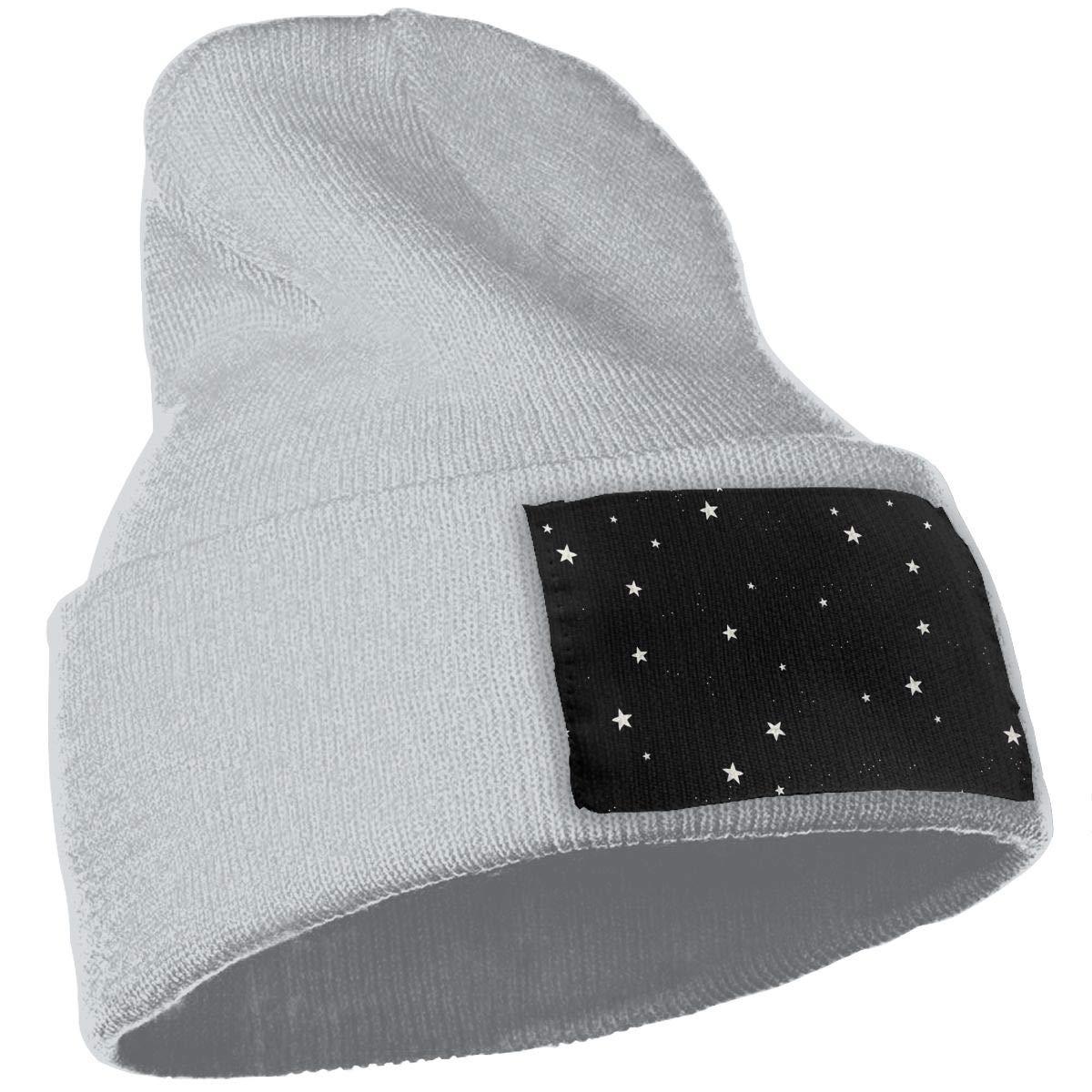 Yubb7E Stars Warm Knit Winter Solid Beanie Hat Unisex Skull Cap