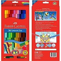 Faber-Castell 5068113000 Eğlenceli Keçeli Kalem, 30'Lu, 30 Renk