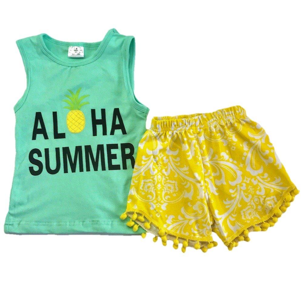 ec4f0147b7 Amazon.com: Wholesale Kids Clothing Baby Toddler Girl Outfit Aloha ...