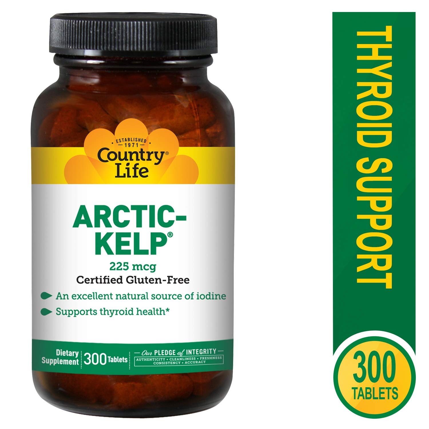 Country Life Norwegian Kelp 225 mcg, 300-Count by Country Life