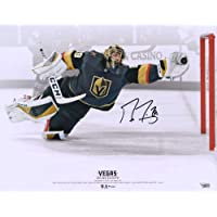"$109 » Marc-Andre Fleury Vegas Golden Knights Autographed 16"" x 20"" Diving Save vs.…"