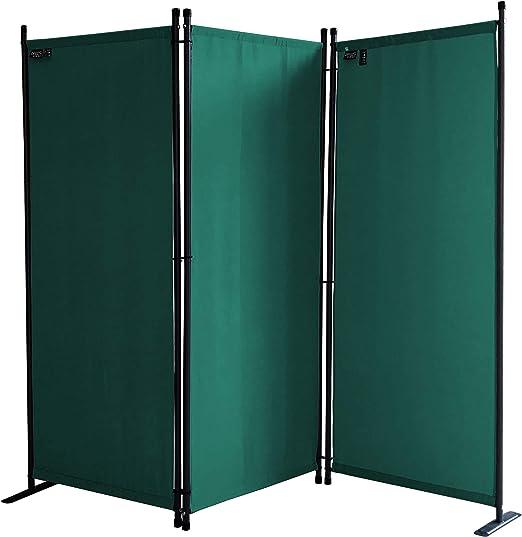 QUICK STAR Paravent 170 x 165 cm Tejido Divisor de habitación Jardín 3-Partición Pared de separación Plegable Balcón Pantalla de privacidad Verde: Amazon.es: Hogar