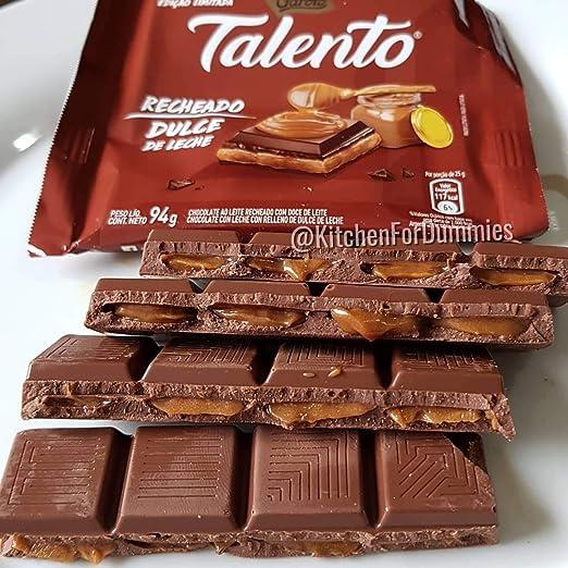 Amazon.com : Garoto - Talento - Chocolate Relleno con Dulce de Leche - Stuffed with Sweet Milk - 3.17 Oz (PACK OF 12) | Chocolate Recheado com Doce de leite ...