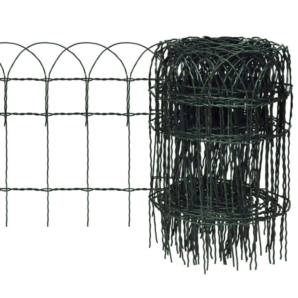 10m x 0.4m Decorative Hoop Top Garden Border Fence - Strong Green PVC Coated Wire Fencing for Boundaries and Edging Flower Beds Floralcraft®