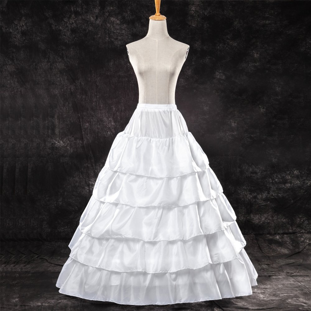 9d057031cf87 LONGBLE Women's 5 Slip Ruffles 4 Hoops Bridal Petticoat Gown Slips  Underskirt for Wedding Evening Party Dresses at Amazon Women's Clothing  store: