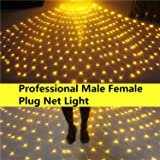 INFILILA Net Lights Mesh Lights for Bushes with Male Female Plug 9.86.6ft 200 Led Professional Outdoor Net Lights for Lighting Project,Christmas,Square,Wedding,Party,Garden,Yard