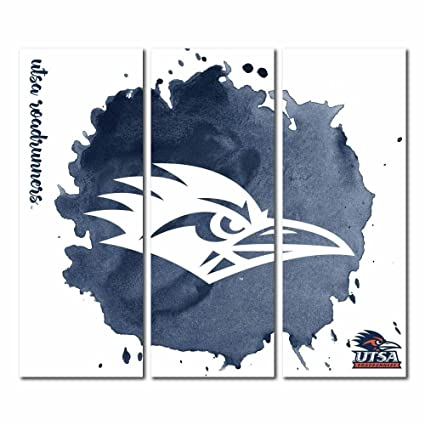 587c48eb0 Victory Tailgate Texas San Antonio Roadrunners Triptych Canvas Wall Art  Watercolor (48x54 inches)
