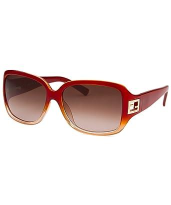 Amazon.com: Fendi mujer cuadrado rojo naranja anteojos de ...
