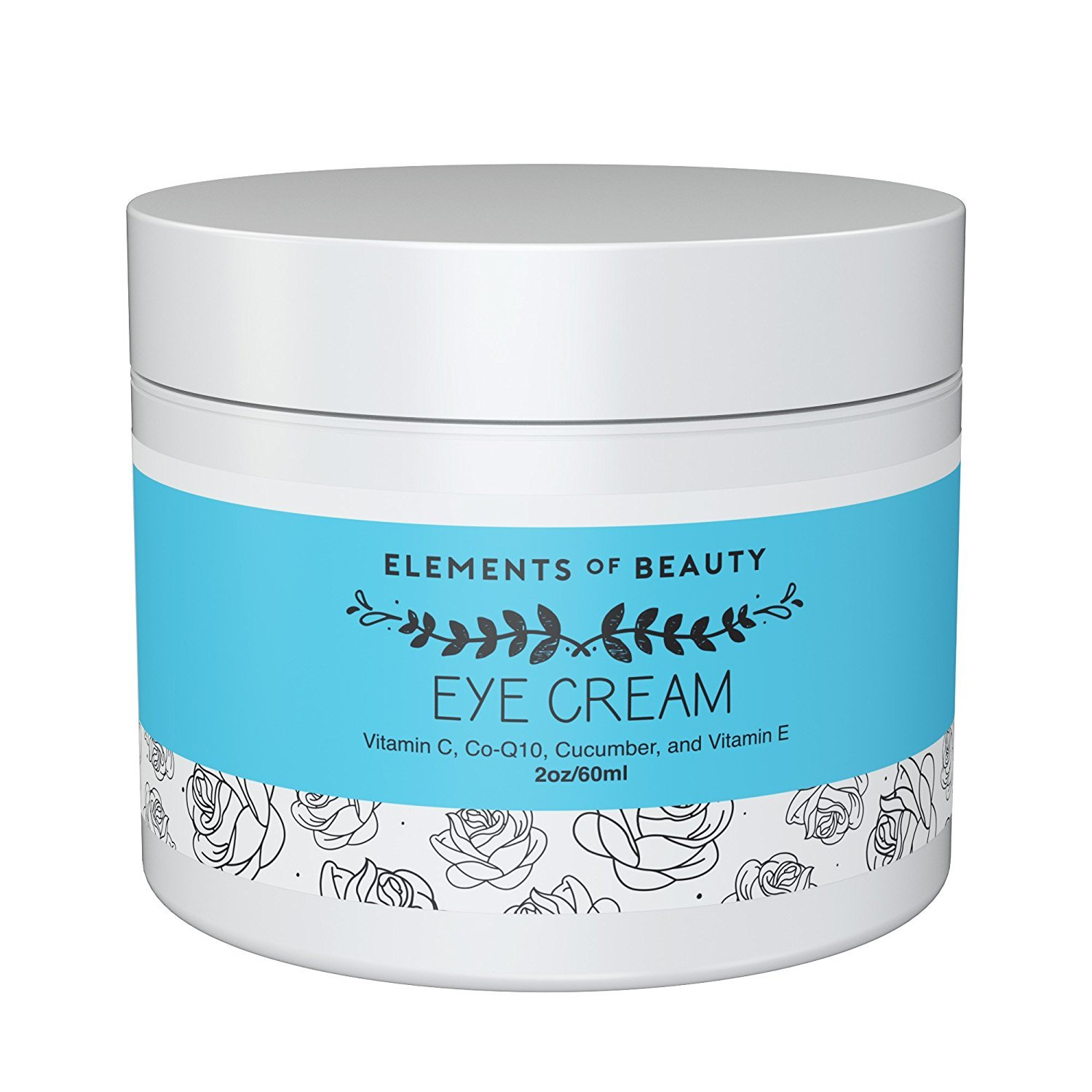Dark Circle Eye Cream by Elements of Beauty (2 oz) - Anti-Wrinkle Eye Cream Fights Dark Circles Under Eyes and Crow's Feet - Naturally Reduces Puffiness and Bags - With Vitamin C, CoQ10 and Cucumber